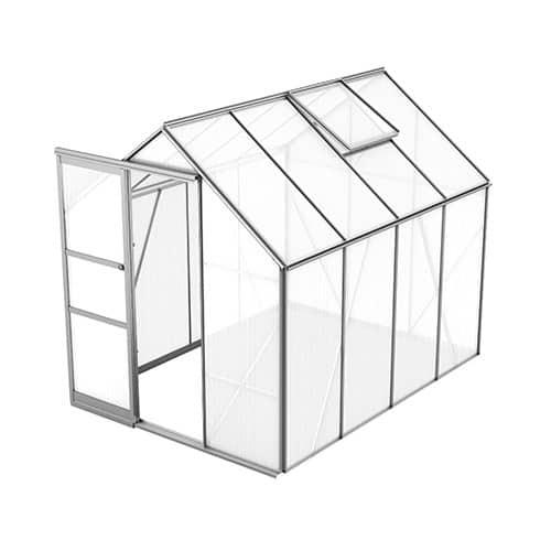 Bruka 5,0 m² Växthus Aluminium, Kanalplast, Ja