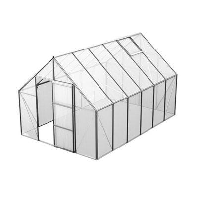 Bruka 9,9 m² Växthus Aluminium, Kanalplast, Nej