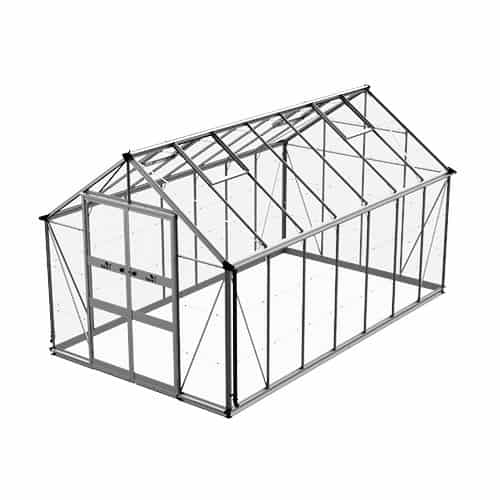 Odla 11,4 m² Växthus Aluminium, Glas
