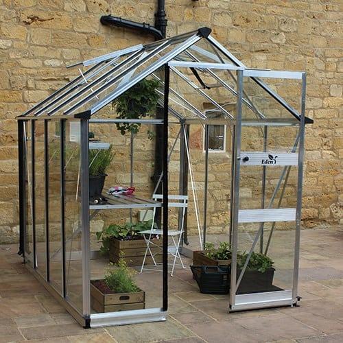Odla 4,9 m² Växthus Aluminium, Glas