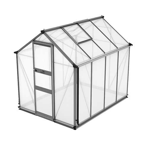 Odla 4,9 m² Växthus Aluminium, Kanalplast