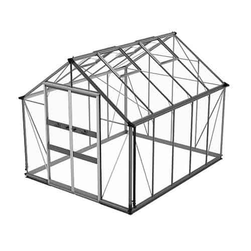 Odla 8,2 m² Växthus Aluminium, Säkerhetsglas