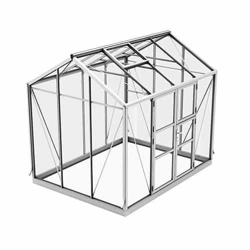 Spira 6,7 m² Växthus Aluminium, Nej, 10 och 16 mm
