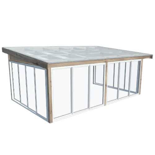 Fira Komplett uterum Fasadmonterat 60 x 37 (22,0 m²) Förlängd sommar