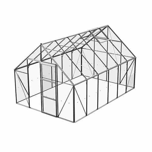 Bruka 9,9 m² Växthus Aluminium, Glas, Nej