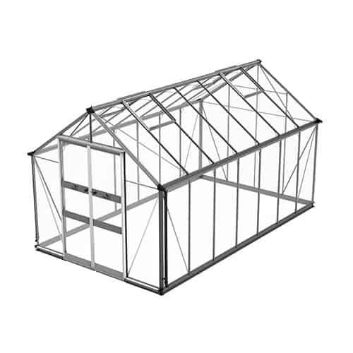 Odla 11,4 m² Växthus Aluminium, Säkerhetsglas