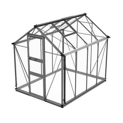 Odla 4,9 m² Växthus Aluminium, Säkerhetsglas