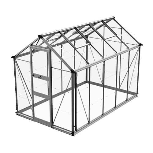 Odla 6,0 m² Växthus Aluminium, Glas