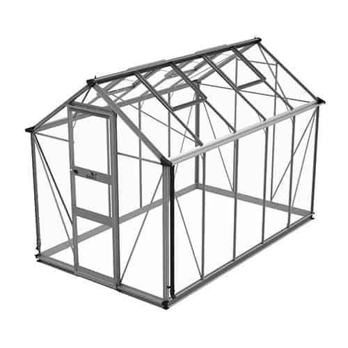 Odla 6,0 m² Växthus Aluminium, Säkerhetsglas