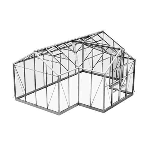 Spira Orangeri 21,5 m² Växthus Aluminium, Nej