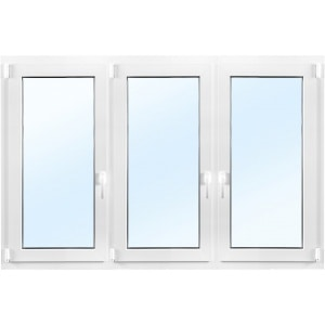3-glasfönster PVC - Inåtgående - 3 luft - U-värde 0,96