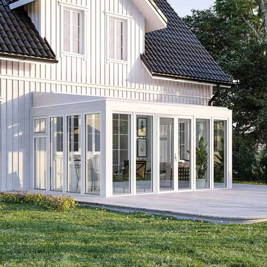 Fasadmonterat med kanalplasttak Drömma Energi 4688 x 3246 mm, 1 st