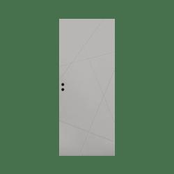 Innerdörr Bergö Grunda Design 10 x 20, Grå
