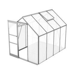 Växthus Bruka 5,0 m², Aluminium, Kanalplast