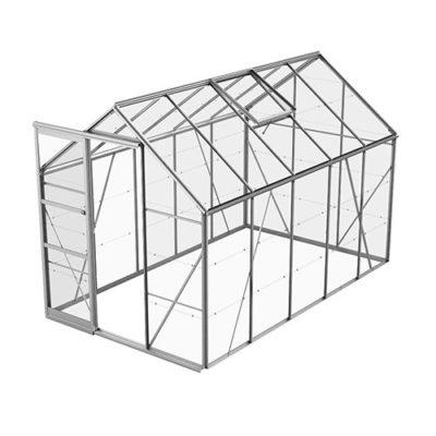 Växthus Bruka 6,2 m², Aluminium, Glas