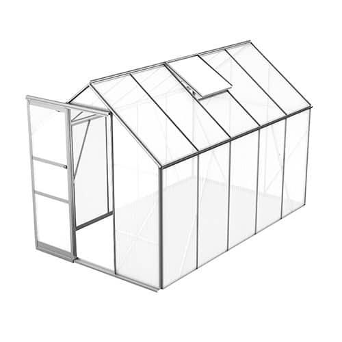 Växthus Bruka 6,2 m², Aluminium, Kanalplast