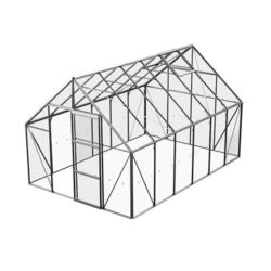 Växthus Bruka 9,9 m², Aluminium, Glas