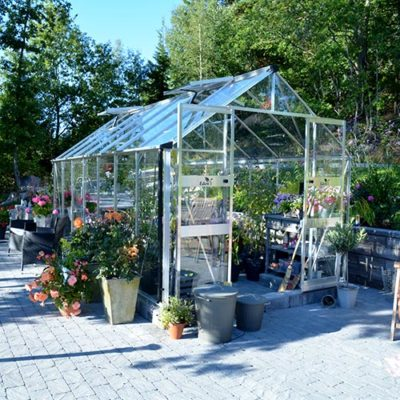 Växthus Odla 11,4 - 14,1 m² 11,4 m², Aluminium, Glas