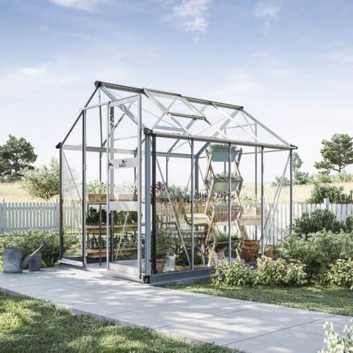 Växthus Odla 4,9 - 6,0 m² 4,9 m², Aluminium, Glas