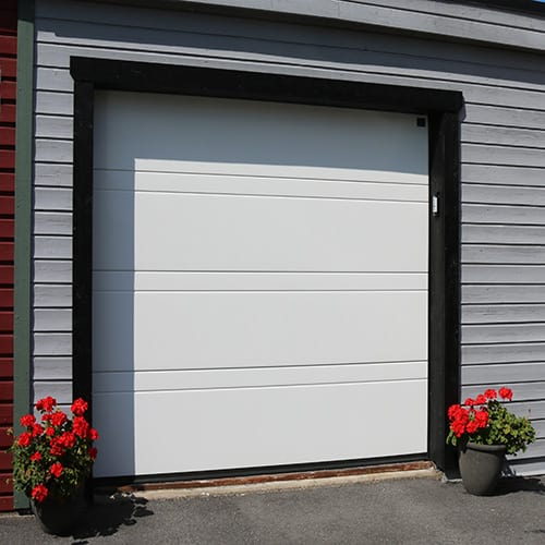 Garageport Advant Complete - Trend 2400 x 2000, Vit, Eurocylinder